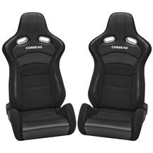Corbeau  Sportline RRX Reclining Seat Pair - Black Cloth/Black Carbon