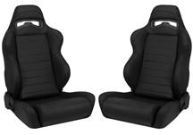 Mustang Corbeau LG1 Leather Seat Pair (79-14)