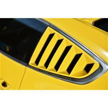 Mustang Defenderworx Quarter Window Louvers - Closed With Vent Stickers (15-17)