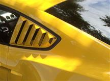 Mustang Defenderworx Quarter Window Louvers - Open (15-17)
