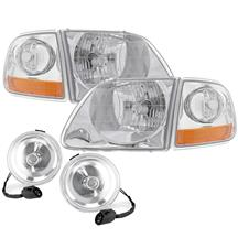 F-150 SVT Lightning 01-04 Style Headlight & Fog Light Kit  - Clear Lens (99-00)