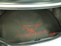 Mustang Fender Gripper Trunk Mat   with Red Pony Logo  (94-04) Coupe