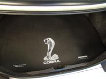 Mustang Fender Gripper Trunk Mat  w/ White Cobra Logo  (94-04) Coupe