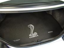 Mustang Fender Gripper Trunk Mat  with Silver Cobra Logo  (94-04) Coupe