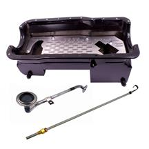 Mustang Ford Performance 351W Deep Rear Sump Oil Pan & Pickup Tube Kit  - Black (79-95) 5.8L