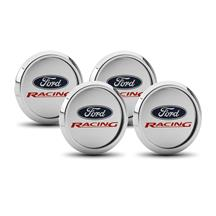 Mustang Ford Racing Center Cap Kit  - Brushed Aluminum