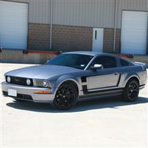 Mustang Graphic Express Boss Reverse 'C' Stripe Kit  - Black (05-09)