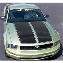 Mustang Graphic Express Dual Wide Hood Racing Stripes  - Black (05-09)