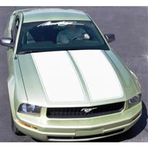 Mustang Graphic Express Dual Wide Hood Racing Stripes  - White (05-09)