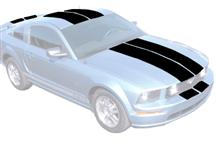 Mustang Lemans Stripe Kit, Coupe  - Gloss Black (05-09)