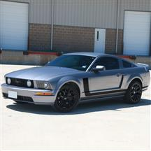 Mustang Graphic Express Side L-Stripe Kit  - Black (05-09)