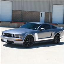 Mustang Graphic Express Side L-Stripe Kit  - White (05-09)