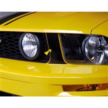 Mustang Graphic Express Front Grille Pillar Accent Decals  - Gloss Black (05-09)