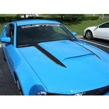 Mustang Cowl Hood Stripe Kit  - Gloss Black (10-12)