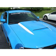 Mustang Cowl Hood Stripe Kit  - White (10-12)