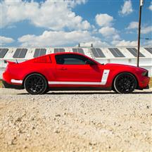 Mustang Boss Style Side L-Stripe Kit  - White (10-12)
