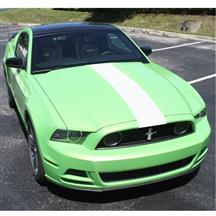 Mustang Center Hood Stripe Kit   - White (13-14)