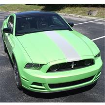Mustang Triple Racing Stripe - Full Kit  - White (13-14)