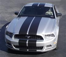 Mustang Lemans Racing Stripe Kit Black (13-14)