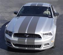 Mustang Lemans Racing Stripe Kit Silver (13-14)