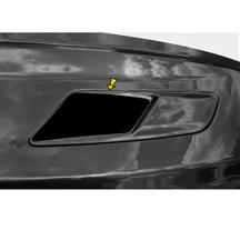 Mustang Solid Style Hood Vent Decal Pair Gloss Black (15-17)