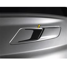 Mustang Sculptured Style Hood Vent Decal Pair Gloss Black (15-17)