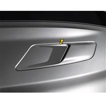 Mustang Sculptured Style Hood Vent Decal Pair Metallic Silver (15-17)