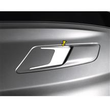 Mustang Sculptured Style Hood Vent Decal Pair Gloss White (15-17)