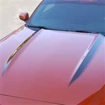 Mustang Cowl Hood Stripe Kit  - Gloss Black (15-17)