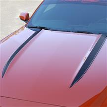 Mustang Cowl Hood Stripe Kit  - Matte Black (15-17)