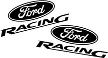 Ford Racing Decal Set Flat Black
