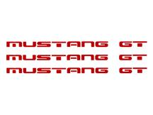 Mustang GT Bumper Insert Decals  - Red (87-93)
