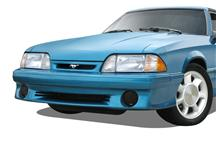 Mustang GTS Smoked Fog Light Covers (87-93)