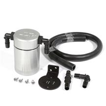 Mustang JLT 3.0 Oil Separator for Driver Side  - Clear Anodized (96-01)