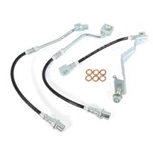 Mustang J&M Stainless Steel Brake Hose Kit, Front & Rear (87-93) 5.0
