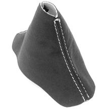 Mustang JPM Coachworks Alcantara Shift Boot - Automatic  - Charcoal w/ Silver Stitching (15-18)