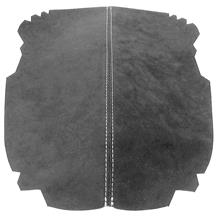 Mustang JPM Coachworks Alcantara Console Lid Cover  - Charcoal w/ Silver Stitching (15-17)