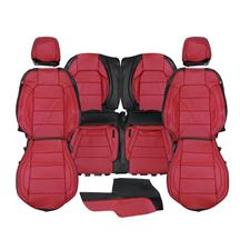 Mustang Katzkin Factory Style Leather Seat Upholstery  - Red (15-20) Coupe