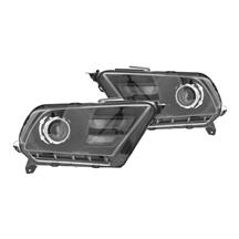 Mustang Projector Style Headlight Kit -Black (10-12) K2-LHP-MST10JM-RS