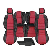 Mustang Katzkin Factory Style Leather Seat Upholstery  - Black w/ Red Inserts (15-20) Coupe
