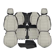 Mustang Katzkin Factory Style Leather Seat Upholstery - Ceramic White (15-20) Coupe