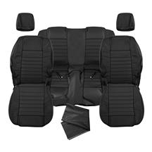 Mustang Katzkin Factory Style Leather Seat Upholstery - Non Side-Impact Airbag - Black (05-09)