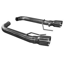Mustang Kooks Muffler Delete Axle Back Exhaust Kit (15-17)