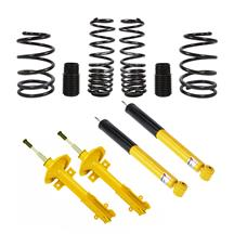 Mustang Koni Yellow Adjustable Shock/Strut   & Eibach Pro Spring Kit (11-14)