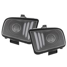 Mustang S550 Style Projector Headlight Kit  - Matte Black (05-09)