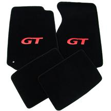 Mustang Floor Mats w/ GT Logo Black/Red (94-04)