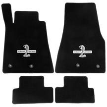 Mustang Lloyd  Floor Mats With GT500 Logo Black (13-14)