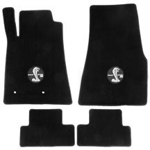Mustang Lloyd  Floor Mats With Circle GT500 Logo Black (07-10)