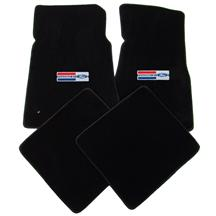 LLOYD Mustang Floor Mats w/ Powered By Ford Logo Black (79-93) 3295170/47661/47602/960V829049