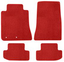 Mustang Lloyd Floor Mats - No Logo Red (15-18)